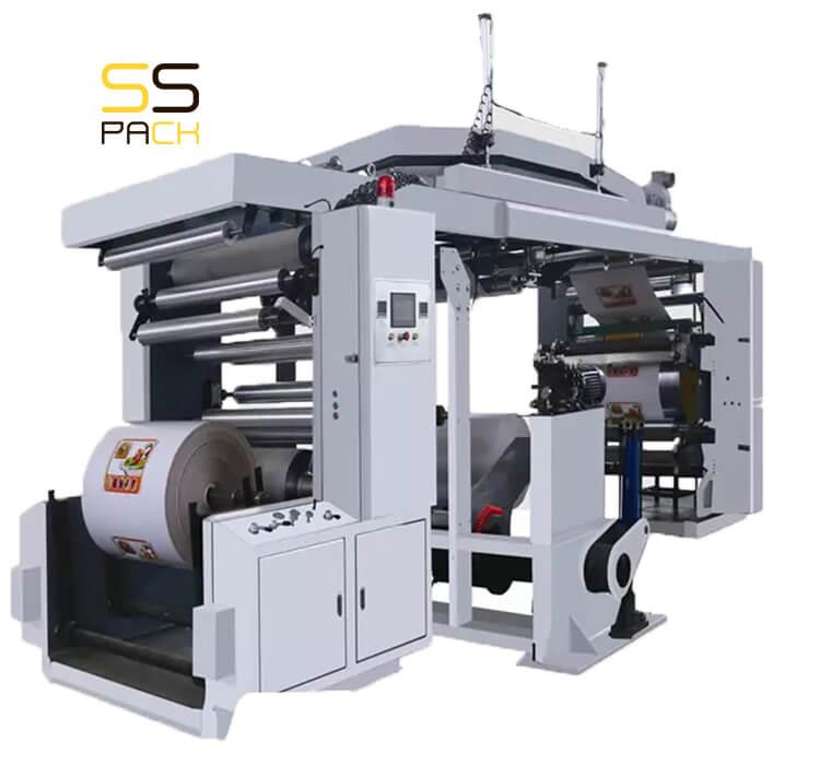 WX-4/6 Четырех / шести цветная флексографская печатная машина CI